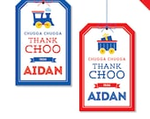 Train Party - Personalized DIY printable favor tags