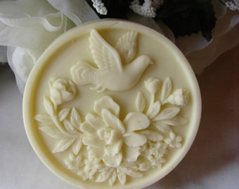 Birds and Bouquets in Shea  and Cocoa Butter Soap