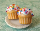 Vanilla cupcake post earrings