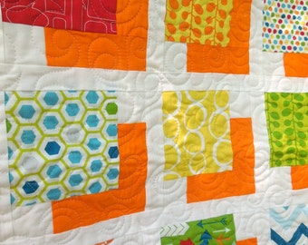 Shadowed Squares Baby Quilt