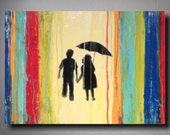 "Art abstract  Painting original painting  on canvas by Artist JMJartstudio  18"" x 24"" Orange yellow FREE US Shipping"