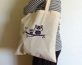Owls Canvas Tote Bag