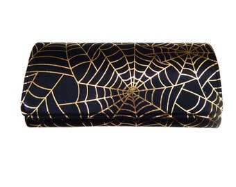 "Bifold Woman Wallet WITH ""Spider Web"" Gothic Halloween Pattern,  NEW, RARE"