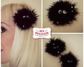 Soot Sprite Ghibli Anime Hairclip Small or Large