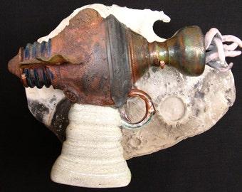Nemo Squidulator - Raku Ray Gun Ceramic Sculpture