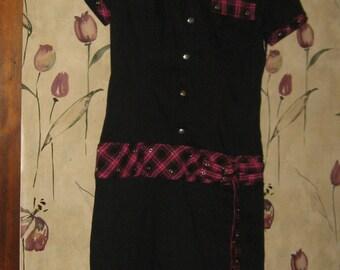 Vtg. 90s Tripp NYC daang goodman Industrial Goth Punk Mini Dress sz  med