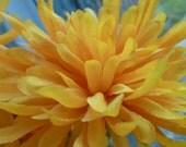 Flower Pen Set 32 Mums Chrysanthemums Yellow Wedding Favors Reception Pens Guest Book Pens Party Favors Bridal Shower