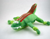 Alligator Dog Toy with a Red Heart & Stripes