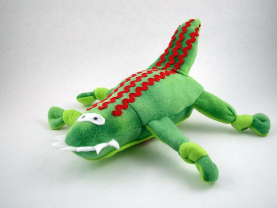 Valentine S Day Dog Toys : Valentine s alligator dog toy with a red heart by iraedesign