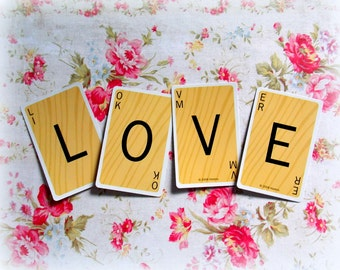 Scrabble Game Cards - LOVE