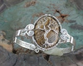 Tree of Life Bracelet with Picture Jasper Cabochon