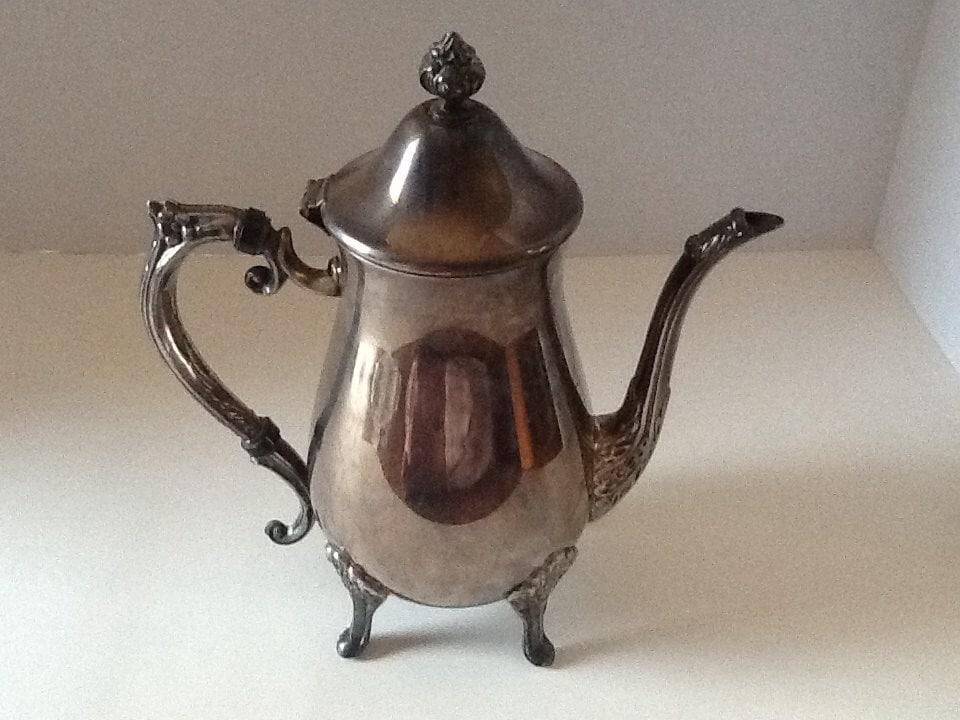 Leonard Silver Tea Pot Coffee Pot Carafe Tea Service Silver Plate ...