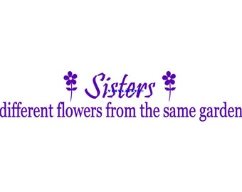 Sister Wall Decal Etsy