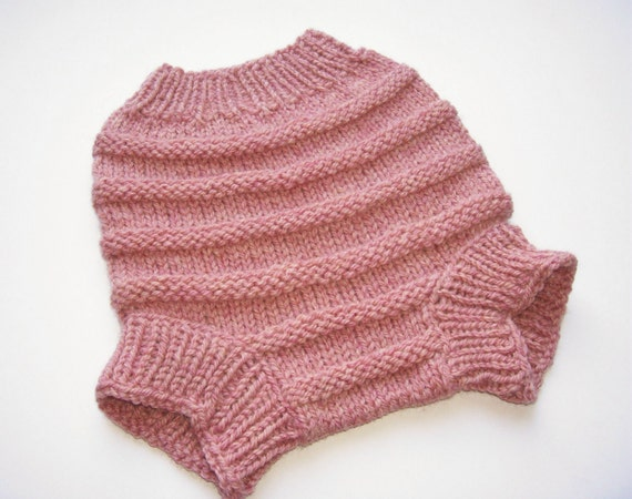 Knitting Pattern For Wool Diaper Covers : Hand Knitted Wool Diaper Cover Knit Cloth by SrechaHandknits