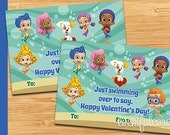 Bubble Guppies Valentine Card - Printable Valentines Day Cards