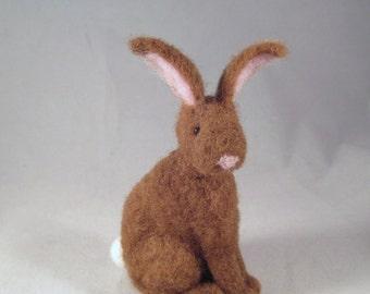 Needle Felted Bunny, Needle Felted Animal, Little Bunny Rabbit, Easter Bunny, Needle Felted Hare