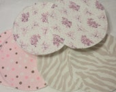 Nursing Pad Size Small 3.5 Inches One set (2 Pads) Choose your fabric, Re Usable, Washable, Eco Friendly Waterproof