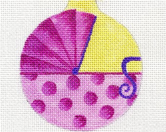 Baby Carriage Pink Needlepoint Ornament - B104A - Jody Designs