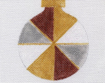 Pinwheel Metallic Needlepoint Ornament - Jody Designs - B155C