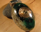 Orgonite Pendant - Malachite and Moonstone