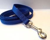 """5/8"""" simply royal blue leash"""