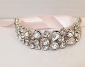 SALE! Bridal Rhinestone Bracelet, BLUSH, Bridal Bracelet, Rhinestone Bracelet, Bridesmaid Bracelet