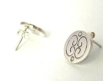 Silver Studs, Round Studs, Short Earrings, Short Silver Earrings, Circle studs, round earrings, silver earrings, gift for women, mothers day