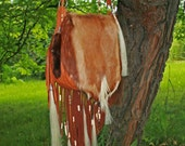 Reserved 4 Shelley Springbok Antelope Fringe Bag w/ Horse hair tassels