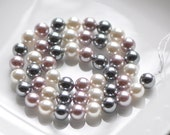 "Smooth Round Shell beads 8mm Mix Color- (V1163-2) /15"" strand"