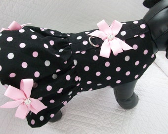 Polka Dot Glitter Dog Dress.
