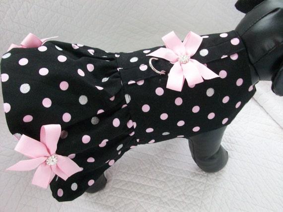 Polka Dot Glitter Dog Dress