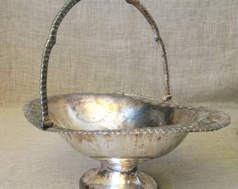 Silver Plate Basket , Civil War , 19th Century , Roswell Gleason , Brides Basket , Antique Silver Plate , Fruit Dish , Fruit Bowl , Silver