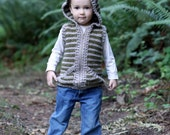 Crochet pattern, crochet childrens vest, boys vest, girls vest, hooded vest for children, crochet, easy pattern, zipper or button