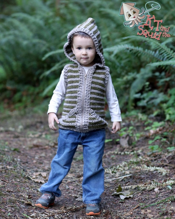 Crochet Patterns For Childrens Vests : Crochet pattern crochet childrens vest boys vest girls