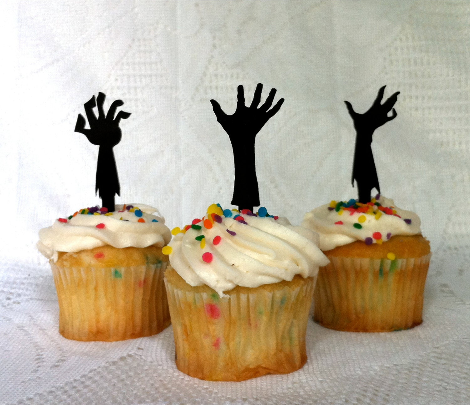 Zombie Apocalypse Cupcake Toppers Set of 3 by