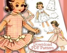 """PDF Betsy McCall Tonner Patsyette 7-8"""" ALL IN Pink 2300 vintage e-pattern Ann Estelle & Riley too"""