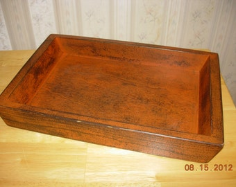 Primitive Wood Candle Tray -Home Decor - Made to Order - Color Choice