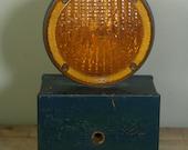 vintage traffic warning light