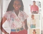 McCalls 4727 Short Sleeve Summer Blouse Sewing Pattern Bust 34