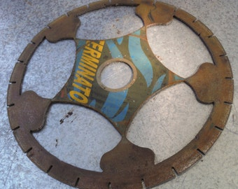 Industrial Saw Blade With Cool Design Cut Out For Shop Garage Decoration Art Project  (50 % OFF APPLIED)