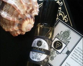 AGUA-Water Elemental Alchemy Natural Botanical  Perfume Oil  1/3 Roll on Bottle
