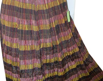 Deadstock Vintage 1950s Fortuny Pleated Striped full Skirt by Rosecrest Never Worn with Tags