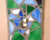 Mosaic Switchplate Cover/ light switch cover/ toggle cover
