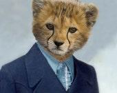 Charlie Cheetah, School Portrait - 8 X 10 Art Print