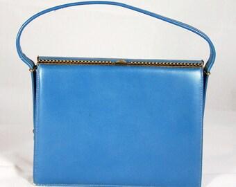 Vintage Small Blue Handbag Signed Andrew Geller