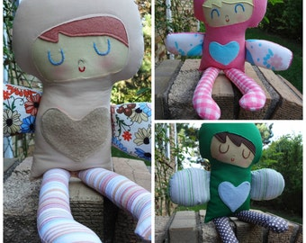 Love Fairy -custom made boy or girl rag doll  cloth doll gift for boy or girl