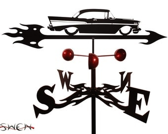 Hand Made Farrell 57 Chevy Auto Car Weathervane NEW