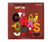 """S. Neil Fujita record album design, 1960. """"Happy Time Cha Chas"""" LP"""