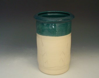 Hand thrown stoneware pottery jar  (AJ-2)