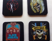 Hard Rock Heavy Metal Drink Coaster Set - Classic Rock Music Gift - Great For Housewarming, Bar & Coffee Table Display - Set Of 4
